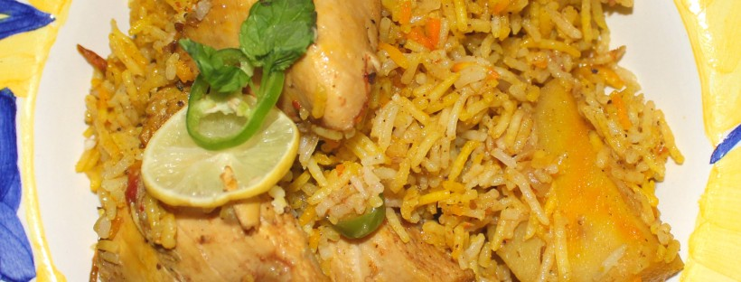 Spicy chicken biryani for Chicken biryani at home